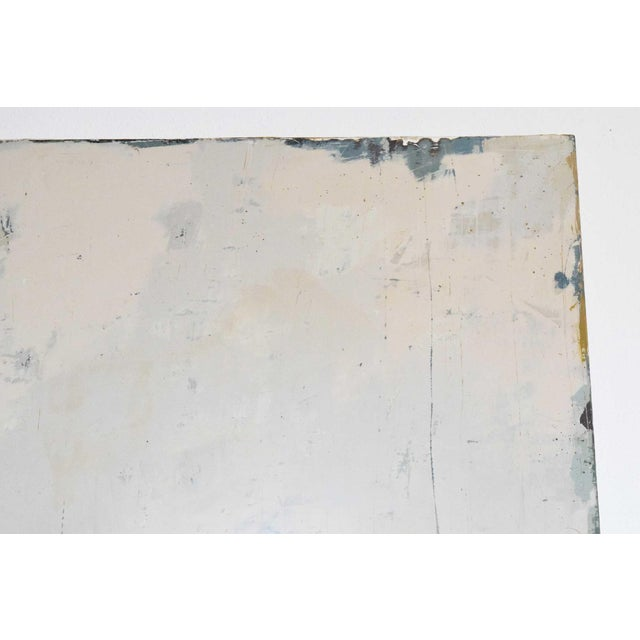 """Large acrylic on wood, measures 60"""" x 60"""". Layers and layers of paint with texturing, mimic an aged Italian fresco or..."""
