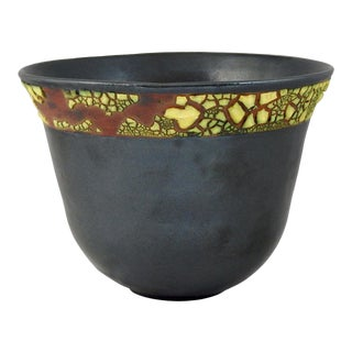 Aubergineware Ceramic Bowl #31 by Andrew Wilder For Sale