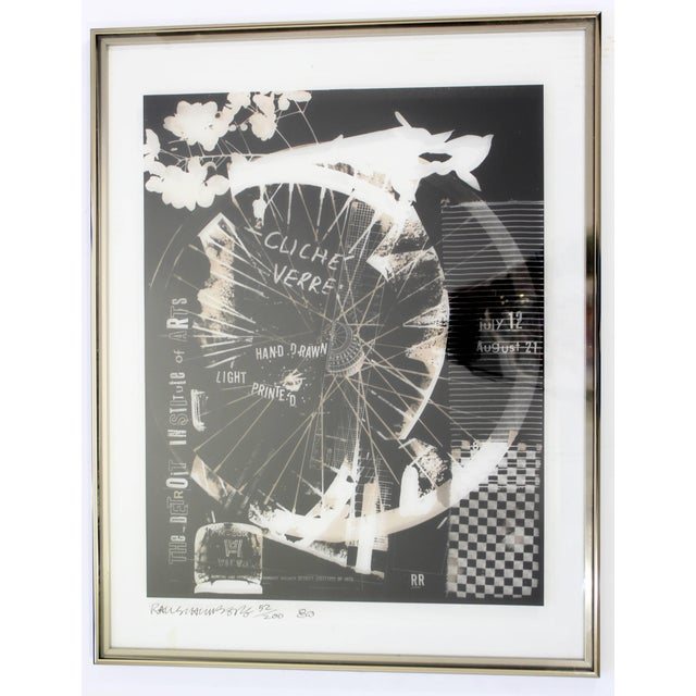 Black 1980 Robert Rauschenberg Signed Photolithograph For Sale - Image 8 of 8