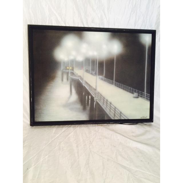 Charlie McPhee Vintage 1981 Pier Airbrush Painting - Image 2 of 6