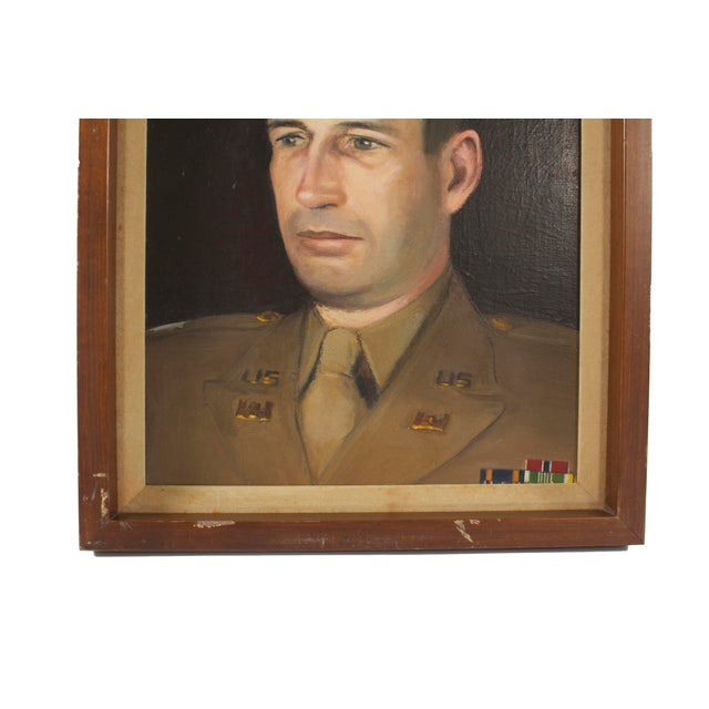 Arts & Crafts Portrait of a Military Man For Sale - Image 3 of 4