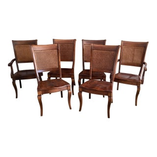 Modern Nichols and Stone Caned Back Chairs- Set of 6 For Sale