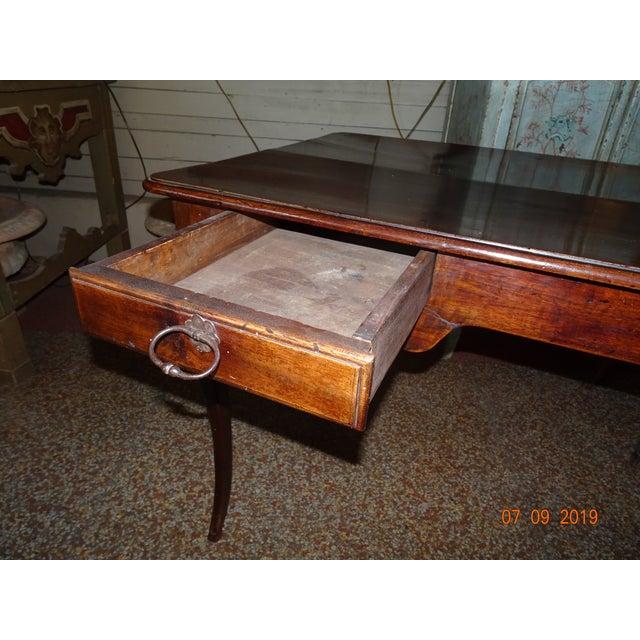 Louis XV Epoch Walnut Desk For Sale - Image 10 of 12