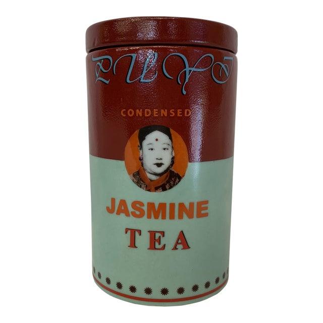Fabienne Jouvin Paris Pop Art Ceramic Tea Jar For Sale