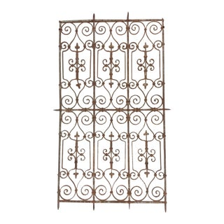 Hand Wrought Iron Panel For Sale