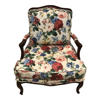 Late 20th Century French Country Bergere Chair For Sale