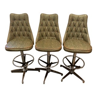 Vintage Chromcraft Bar Stools - Set of 3 For Sale