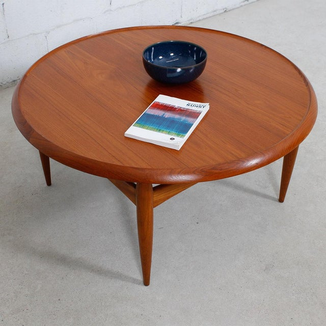 Danish Modern Teak Finn Juhl Style Reversible Coffee Table - Image 7 of 10