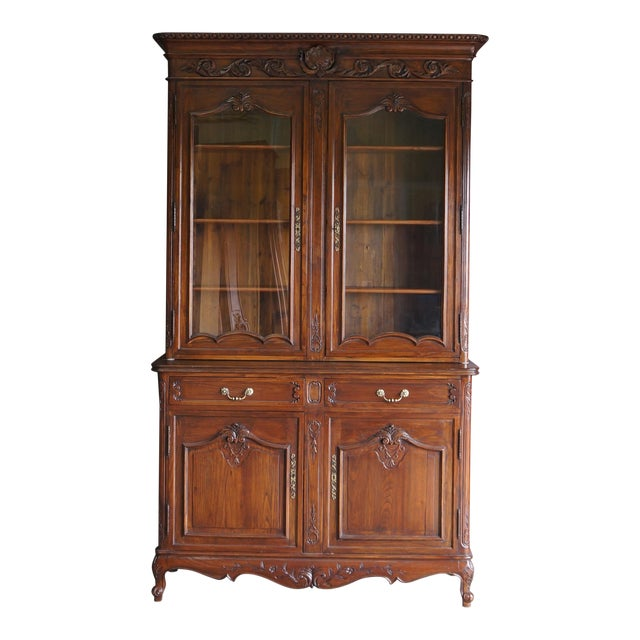 French Provincial Display Cabinet Hutch For Sale