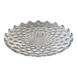 1950s Footed Fostoria Clear Serving Platter For Sale