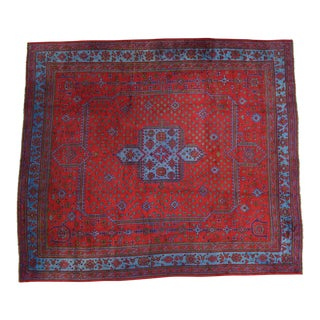 Antique Turkish Oushak With Turkey Rug- 16′8″ × 19′1″ For Sale