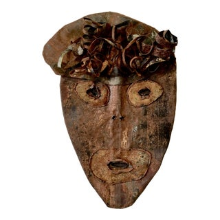 1980s Contemporary Jerry Coker Metal Outsider Art Identity Mask For Sale