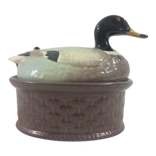 French Faience Paté Dish With Duck