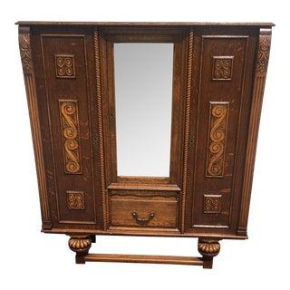 Antique Art Deco Leaded Glass Cabinet For Sale
