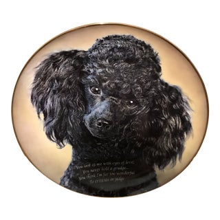 Danbury Decorative Poodle Plate For Sale