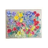 Image of Vintage Handmade 3D Flower Art For Sale