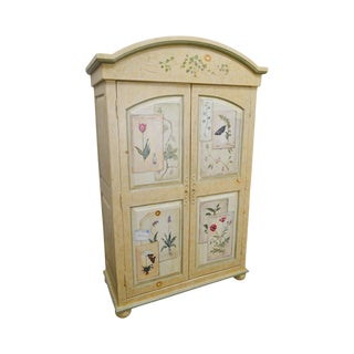 Artist Signed Small Meadows Collection 2 Door Armoire Cabinet