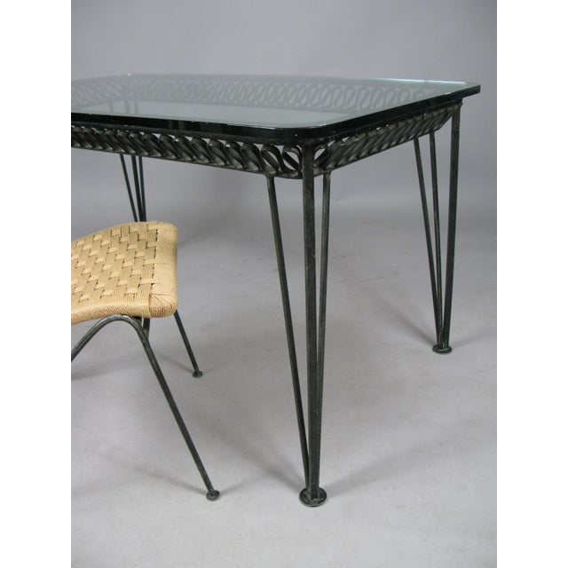 Metal 1950s Vintage Tempestini Wrought Iron Desk and Chair For Sale - Image 7 of 8