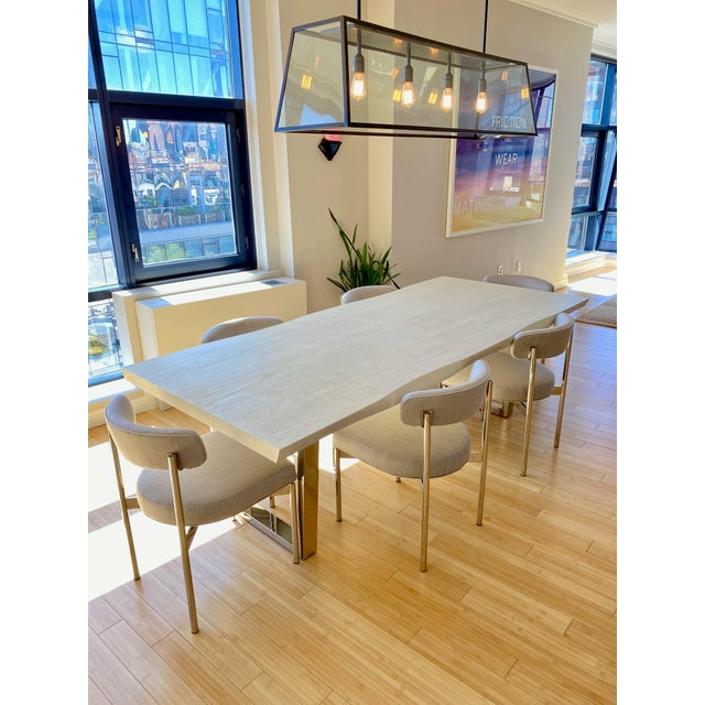 Modern White Kimora Mitchell Gold Bob Williams Dining Table & Chairs - Set of 7 For Sale - Image 13 of 13