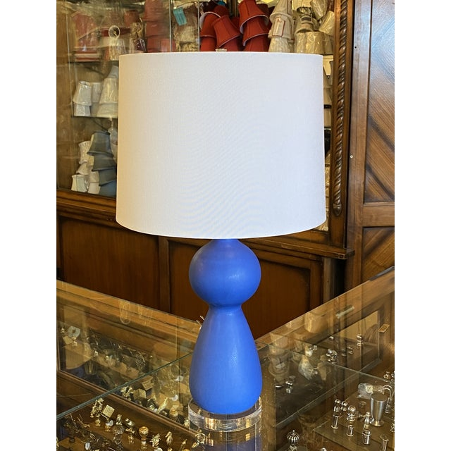 Blue Portuguese Ceramic Table Lamp For Sale In Detroit - Image 6 of 6