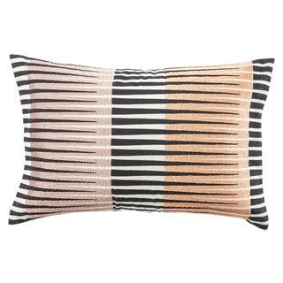 Nikki Chu by Jaipur Living Chareau Black/ Pink Geometric Down Throw Pillow For Sale
