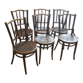 Thonet Style Bentwood Bistro Chairs- Set of 6