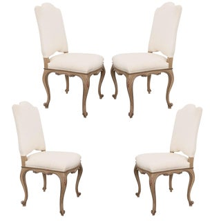 Set of Four French Louis XV-Style Reproduction Dining Side Chairs For Sale