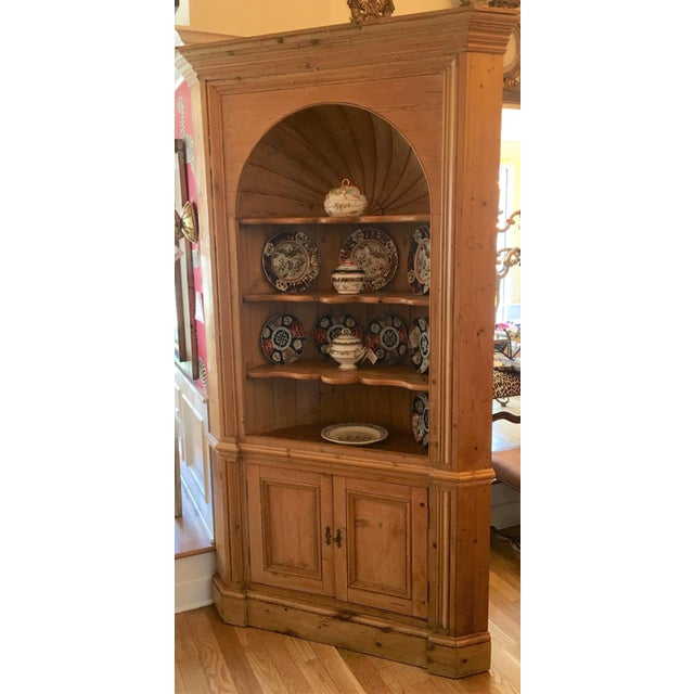English Traditional Huge Charles & Charles Antique English Pine Corner Cabinet For Sale - Image 3 of 5