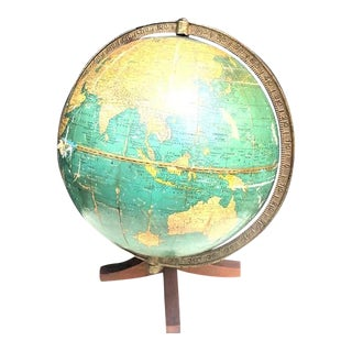 Cram's Universal Cantilever Globe on Wood Stand For Sale