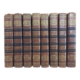 """Early 19th Century """"The Naval History of Great Britain"""" Books by Dr. J Campbell - 8 Vols. Set For Sale"""
