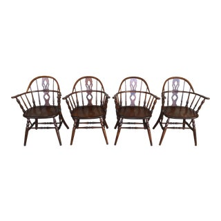 Antique Stickley Brothers Quaint Furniture Maple Arm Chairs - Set of 4 For Sale