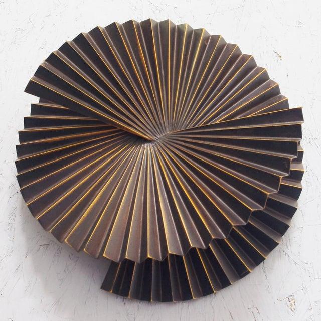 Asian Medium Fan Sconce Sculptures by Fabio Ltd - a PAir For Sale - Image 3 of 5
