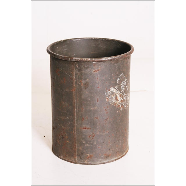 Vintage Industrial Green Metal Military Can - Image 9 of 11