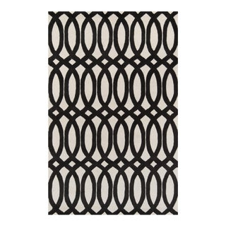 "Contemporary Momeni Delhi Hand Tufted Black Wool Area Rug - 3'6"" X 5'6"" For Sale"