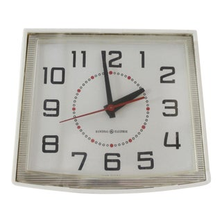 Vintage General Electric Wall Clock Mid Century Modern Model 2110a For Sale