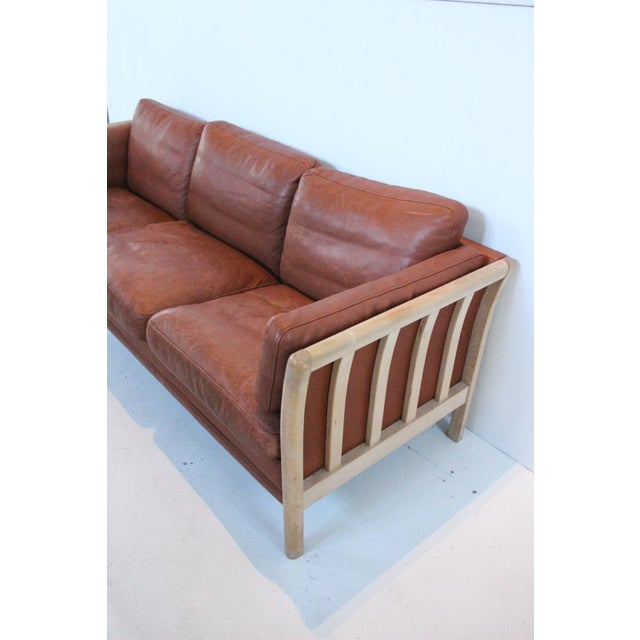 Mid-Century Modern Mid-Century Leather Couch For Sale - Image 3 of 7