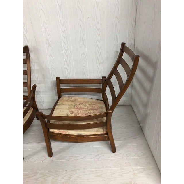 1980s 1980s Mid-Century Modern Ercol Savlle Arm Chairs - a Pair For Sale - Image 5 of 10