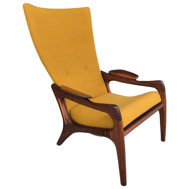 Adrian Pearsall High Back Wing Lounge Chair For Sale