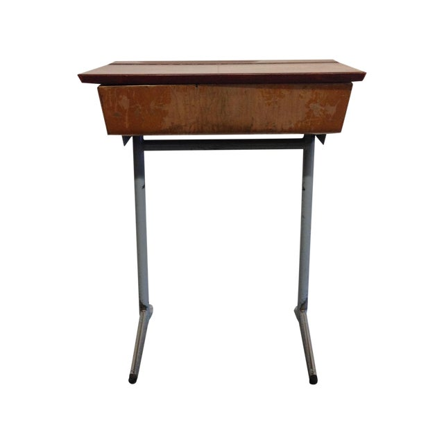 Vintage French Child's School Desk - Image 1 of 7