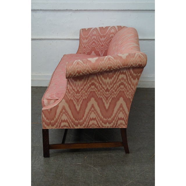 Southwood Mahogany Chippendale Style Flame Stitch Sofa - Image 3 of 10