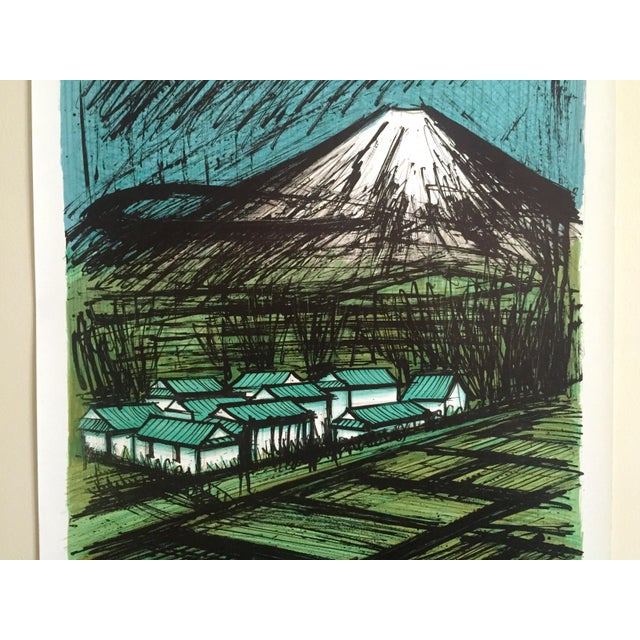 "Asian Bernard Buffet Rare Vintage 1980 "" Mourlot Au Japon "" French Lithograph Print Exhibition Poster For Sale - Image 3 of 12"