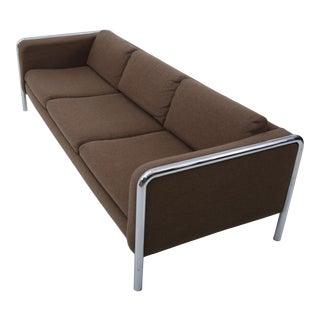 Midcentury Modern Sofa onTubular Chrome, 1970's For Sale