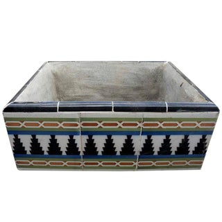 Hand Tiled Argentinian Planter For Sale