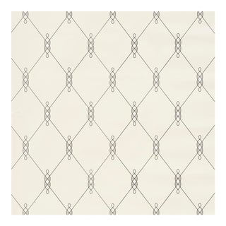 Sample - Schumacher X David Oliver Diso Wallpaper in Parchment For Sale