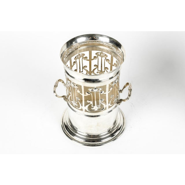 Sheffield Antique English Plated Wine / Drinks Bottle Holder For Sale - Image 4 of 6