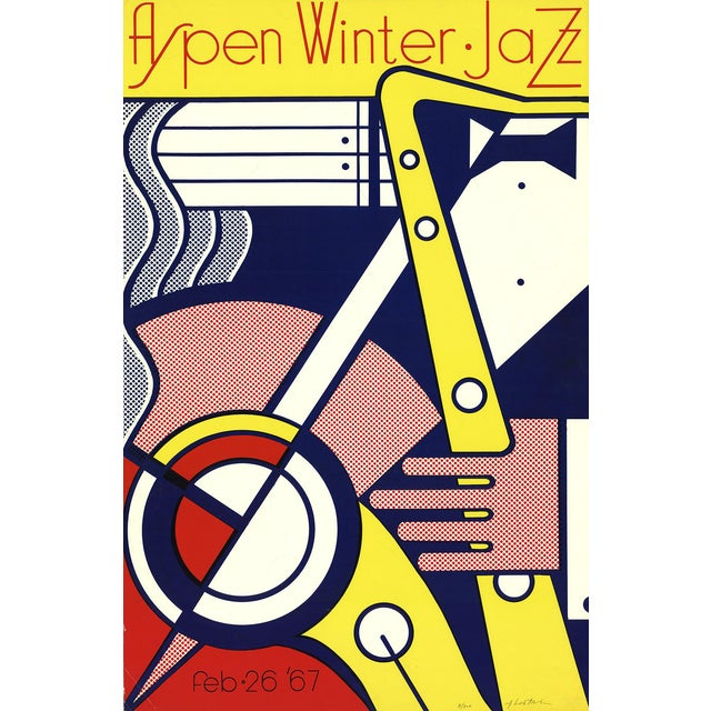 'Aspen Winter Jazz' Serigraph by Roy Lichtenstein - Image 1 of 2
