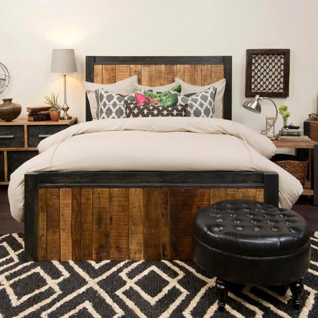 Reclaimed Wood Panel Eastern King Bed - Image 2 of 3