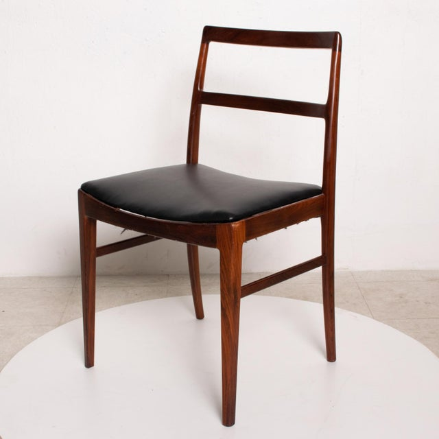 Sibast Furniture Mid Century Danish Modern Set of 6 Dining Chairs by Arne Vodder for Sibast 430 For Sale - Image 4 of 11