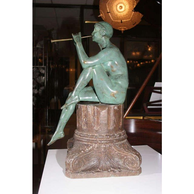 Gold Art Deco Bronze Sculpture by Maurice Guiraud Riviere For Sale - Image 8 of 10