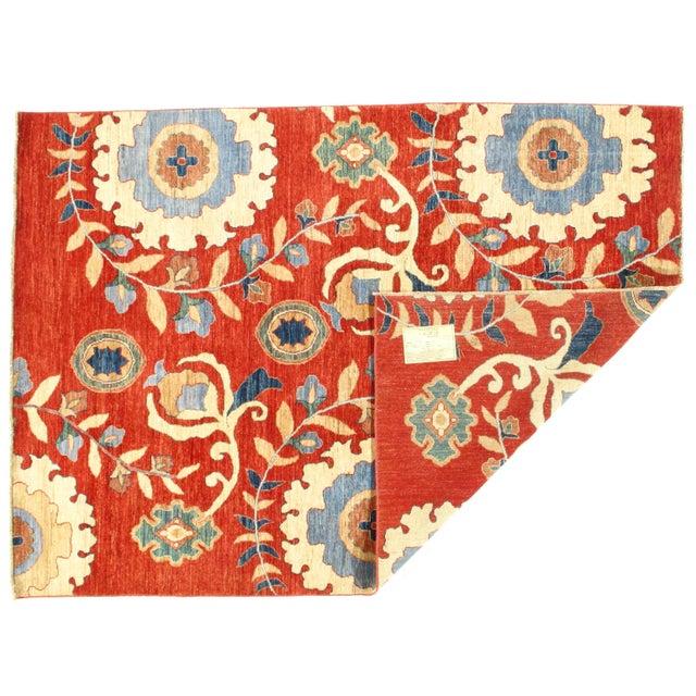 Original Super Kazak Design Rug. Handmade Hand-knotted Very Practical for High Traffic Hand-Spun Lamb's Wool on a Cotton...